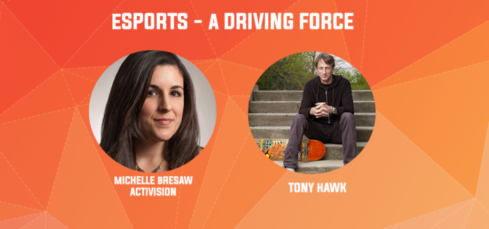 esports a driving force session with Tony Hawk & Michelle Bresaw